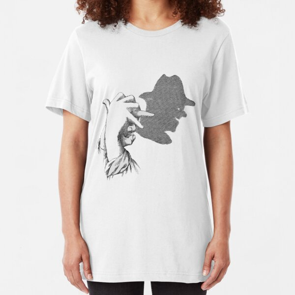 Hands Shadow Art in the Man Sketch Slim Fit T-Shirt