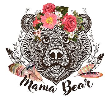 Bear Mama Mountains Calling Design by GraphicRhythm
