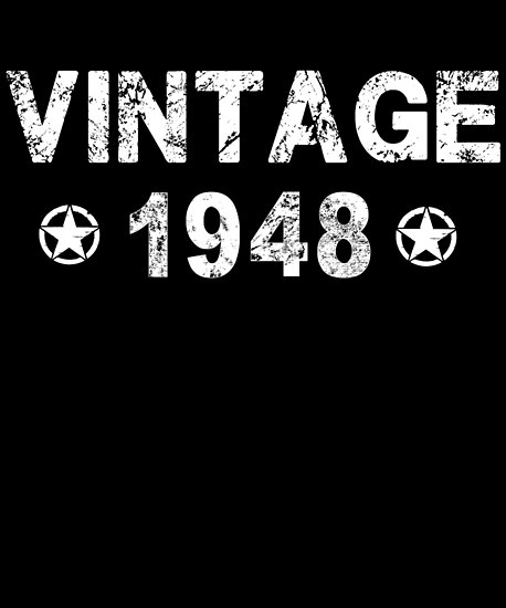 Vintage Born In 1948 70th Gift 70 Years Old Birthday