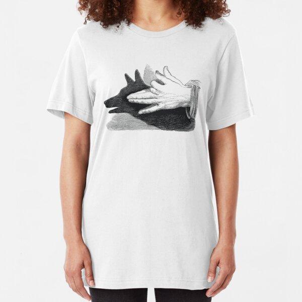 Hand shadow Dog  Slim Fit T-Shirt