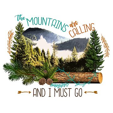 Mountains Calling Bear Mama Design by GraphicRhythm
