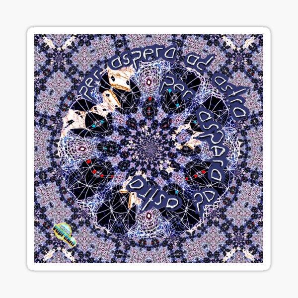 Per aspera ad astra fractal pattern by Linandara  Sticker