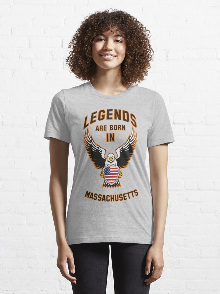 Alternate view of Legends are born in Massachusetts Essential T-Shirt