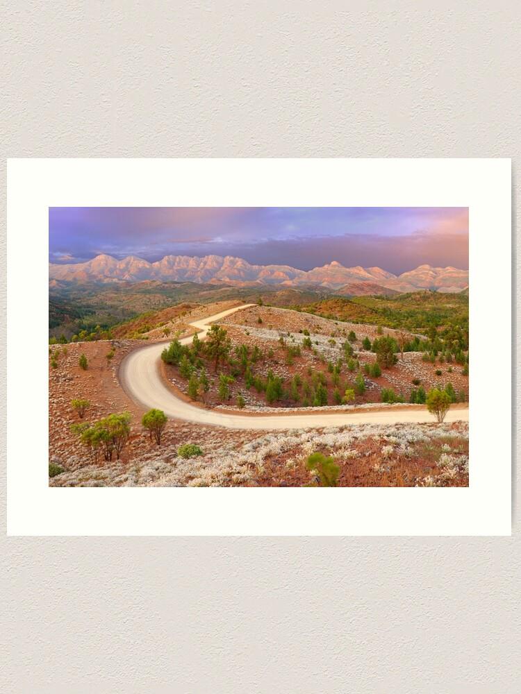 Alternate view of Bunyeroo Valley, Flinders Ranges, South Australia Art Print