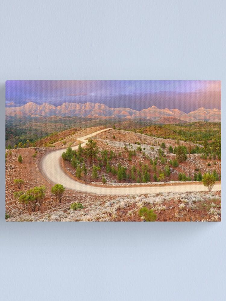 Alternate view of Bunyeroo Valley, Flinders Ranges, South Australia Canvas Print