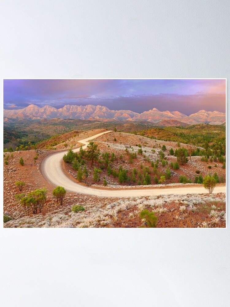Alternate view of Bunyeroo Valley, Flinders Ranges, South Australia Poster