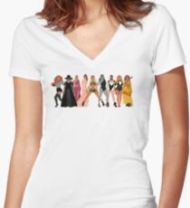 single ladies Women's Fitted V-Neck T-Shirt