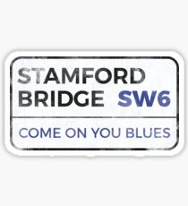 """Chelsea """"Come on you blues"""" street sign - Chelsea wall art - Chelsea posters - Chelsea accessories Sticker"""