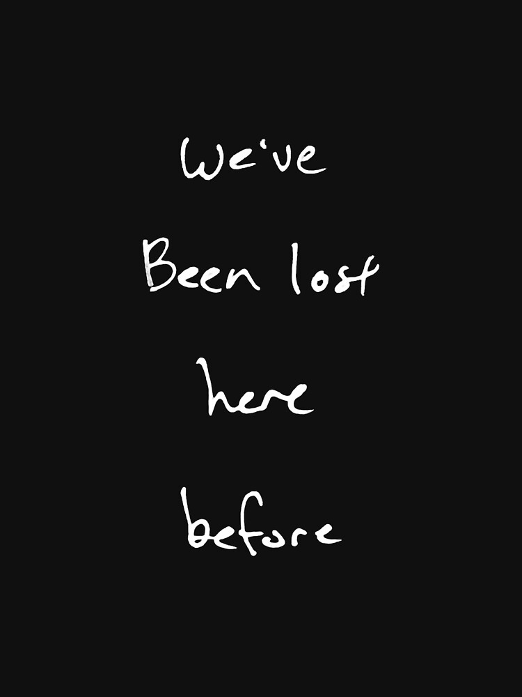 We've Been Lost (white text, square) by Etakeh