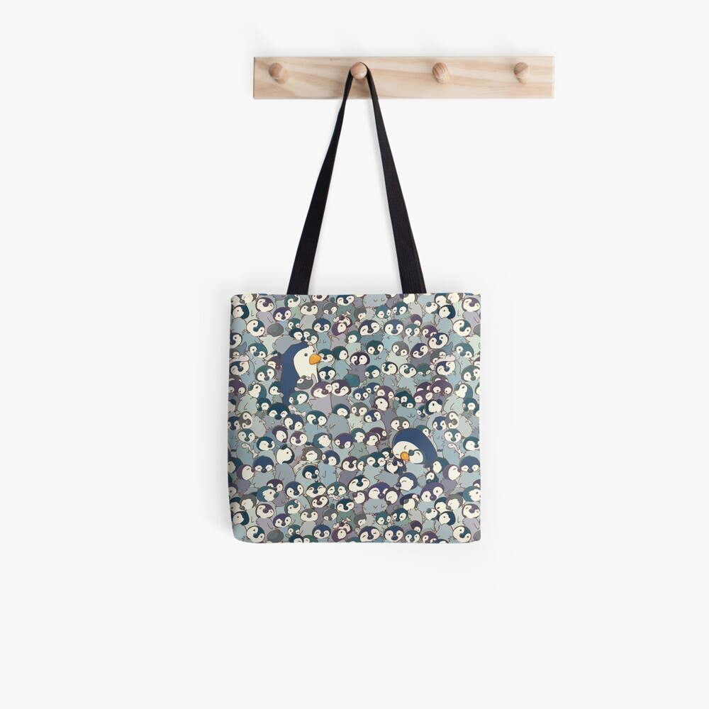 Baby Penguin Pattern Tote Bag