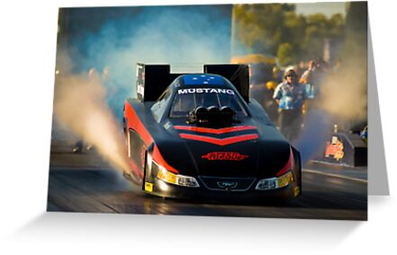 Drag Racing Greeting Cards By Leith Cowan Redbubble