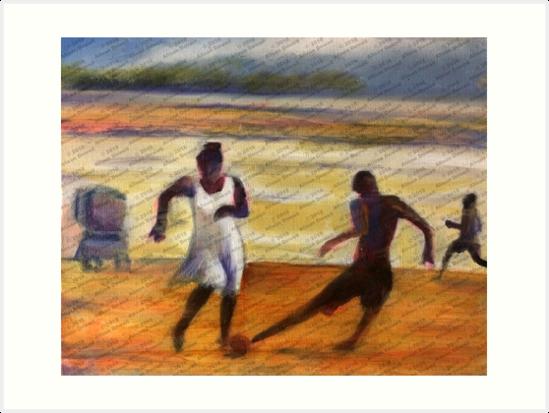 Beach Footie by alisondowell