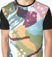 Brush Stroke Pattern with Circles Graphic T-Shirt