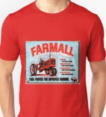Vintage Farmall Tractor sign Unisex T-Shirt