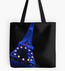 Eiffel Blue Tote Bag