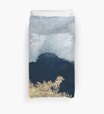Extravagant Watercolor Ombre with Gold Duvet Cover