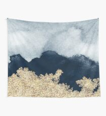 Extravagant Watercolor Ombre with Gold Wall Tapestry