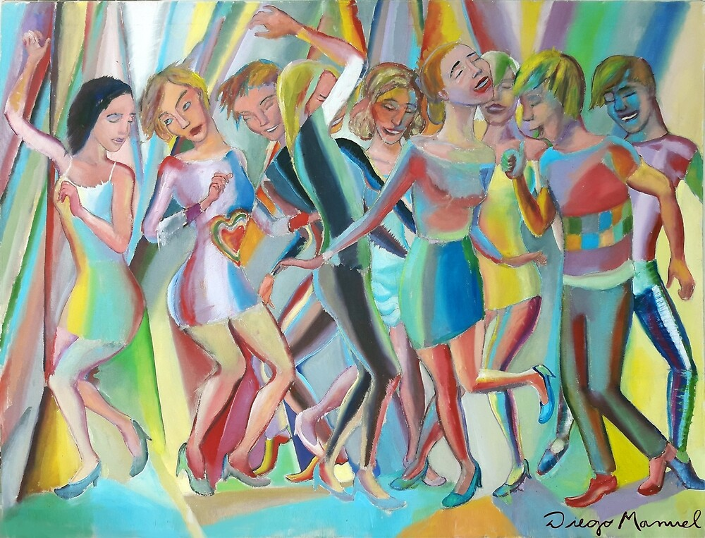 The dance 8 by Diego Manuel Rodriguez