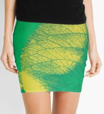 Green Leaf Spring Pattern Mini Skirt