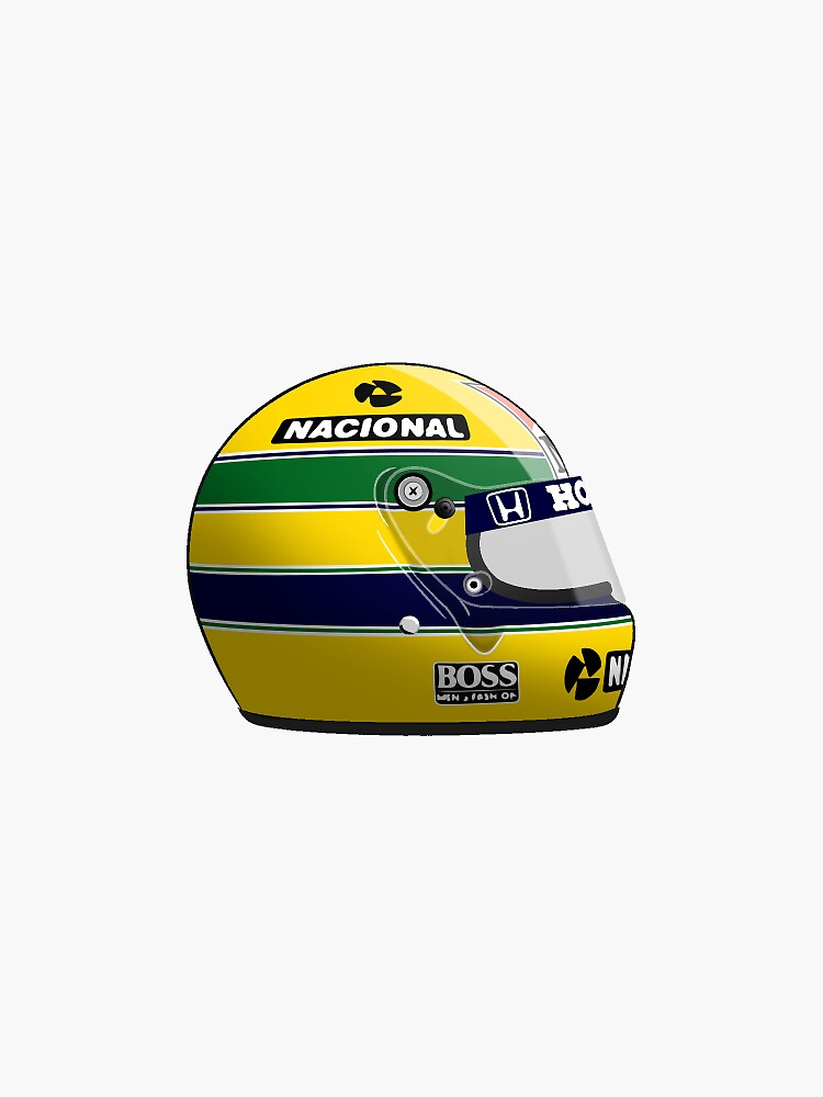 ayrton senna 1988 helm aufkleber sticker von. Black Bedroom Furniture Sets. Home Design Ideas
