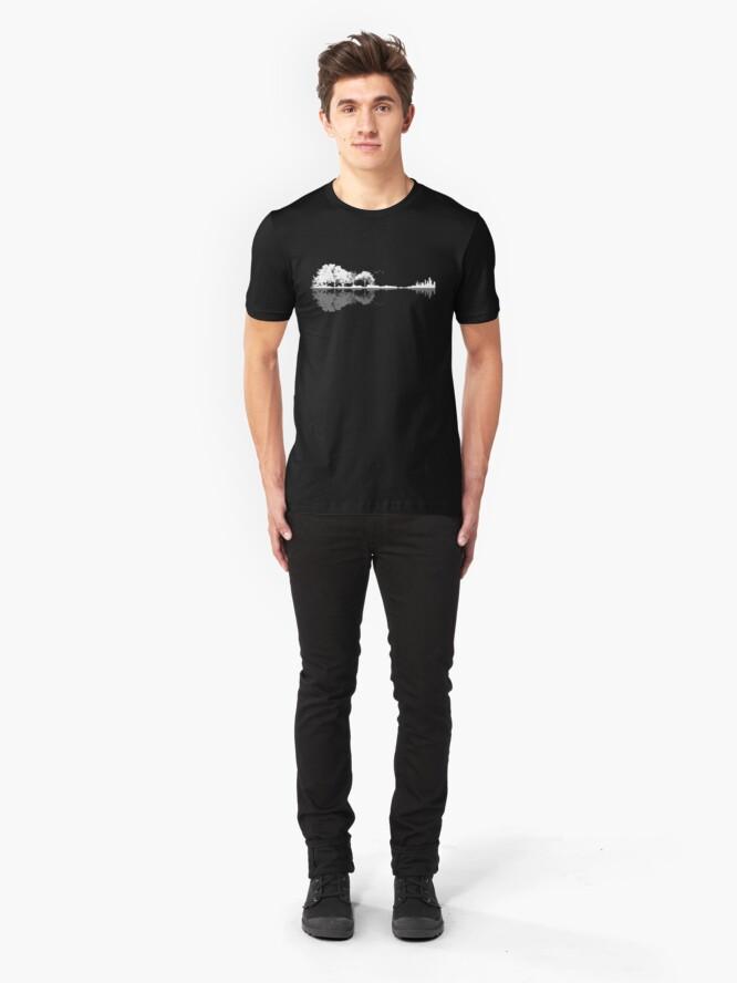 Alternate view of Nature Guitar  Slim Fit T-Shirt
