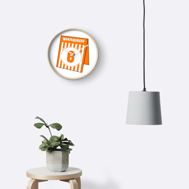 whataburger table tent number 6 clocks by notional redbubble
