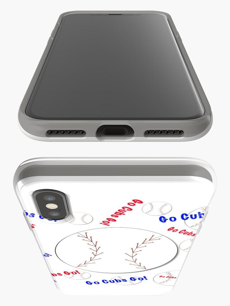 Alternative Ansicht von Go Cubs gehen! Baseball iPhone-Hülle & Cover