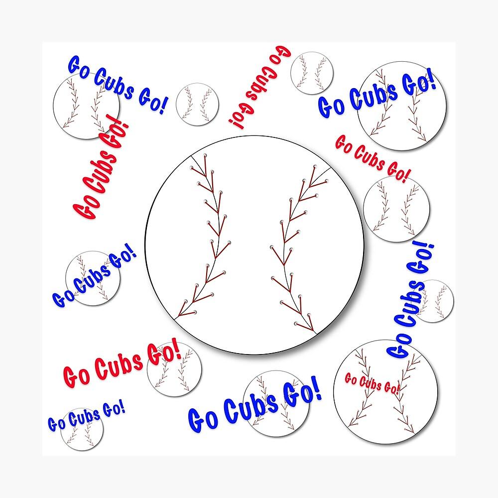 Go Cubs gehen! Baseball Fotodruck