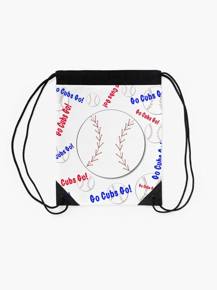 Alternative Ansicht von Go Cubs gehen! Baseball Turnbeutel