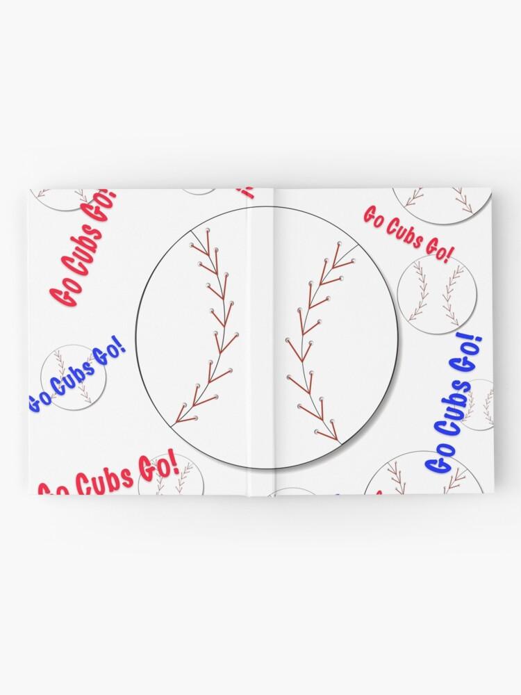 Alternative Ansicht von Go Cubs gehen! Baseball Notizbuch