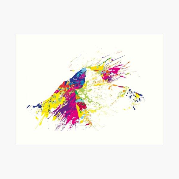 MOUNT EVEREST mountainsplash colorful Art Print