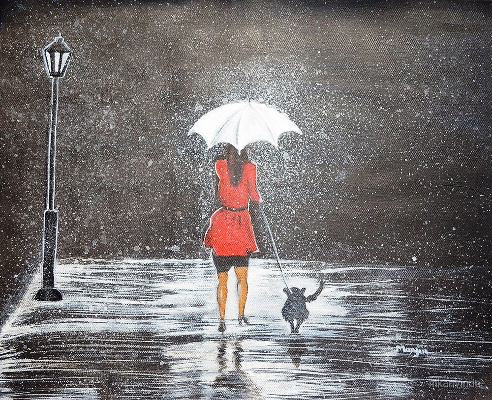 Stroll in the rain by mkanvinde