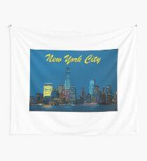 Stunning! New York City Lower Manhattan Skyline - Professional Photo Wall Tapestry