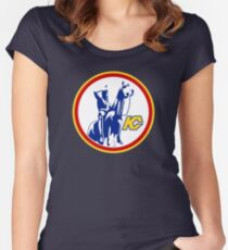 KANSAS CITY SCOUTS HOCKEY RETRO Women's Fitted Scoop T-Shirt