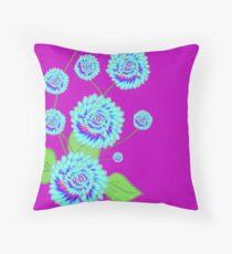 Rainbow floral Throw Pillow