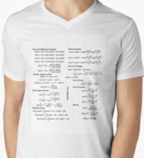 Math, mathematics, trigonometry, education, school, academy, formulae, formulas, formula Men's V-Neck T-Shirt