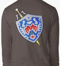Hero's Shield and the Gilded Sword (From Majoras Mask) Long Sleeve T-Shirt