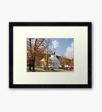 NEW ENGLAND, U.S.A. Walk to Church !! Framed Print