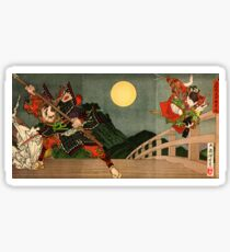 Samurai battle on Gojo Bridge Sticker