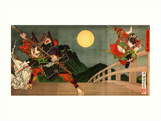 Samurai battle on Gojo Bridge by Fletchsan