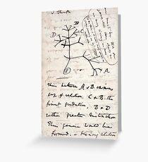 I Think - Charles Darwin 1 Greeting Card
