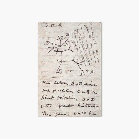 I Think - Charles Darwin 1 Art Board Print