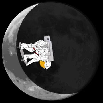 Moon Half-Pipe mit Skateboard Astronaut V.2 von Upbeat