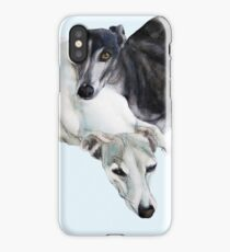 Whippet Art - Lean on me iPhone Case