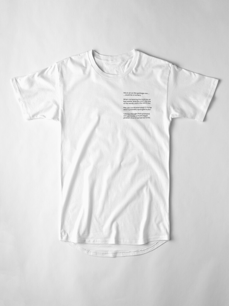 Alternate view of Quotes Long T-Shirt