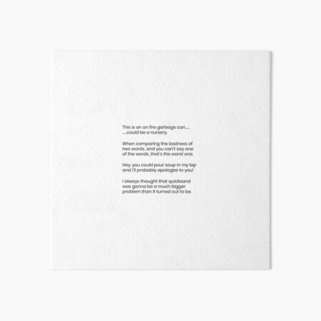 Quotes Art Board Print