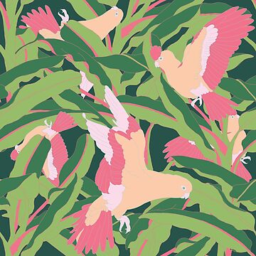 Pink Parrots  by likidddsign