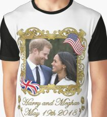 Prince Harry and Meghan Markle Graphic T-Shirt