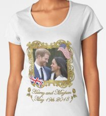 Prince Harry and Meghan Markle Women's Premium T-Shirt