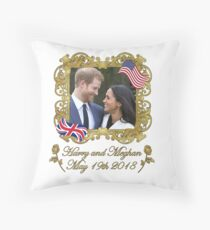 Prince Harry and Meghan Markle Throw Pillow